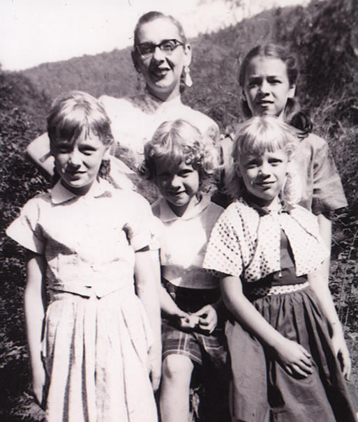 Granny, my mother, and my aunts on Easter Sunday 1954 in Gatlinburg, TN