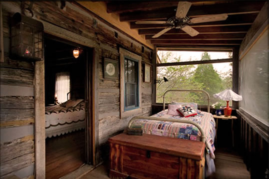 Sleeping Porch In The Pioneer Trading Post An Appalachian