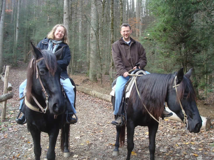 Go horse back riding in the Great Smoky Mountains
