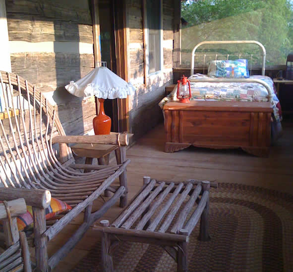 The Sleeping Porch at cabin rental on Douglas Lake